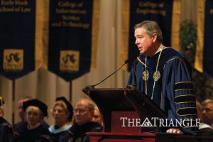 Fry spoke about Drexel's partnership with the Academy of Natural Sciences at Convocation 2011.