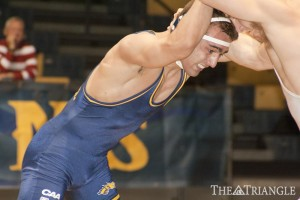 Triangle File Photo | The Drexel wrestling team traveled to Bakersfield, Calif. Nov. 8 to take on California Polytechnic State University and California State University, Bakersfield in back-to-back matches as a part of the Road Runner Open. The Dragons were without their top wrestler, senior Joseph Booth, who was out of the lineup with an injury.