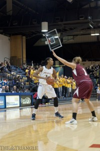 Credit: Ken Chaney | Senior forward Nicki Jones recorded 12 points, three rebounds, three steals and two blocks in Drexel's 51-33 victory over Colgate University in the LIU Turkey Classic.
