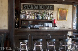 Standard Tap, located in Northern Liberties at 901 N. 2nd Street, is a simple subway ride on the Market-Frankford Line from campus. The eclectic tavern has a rotational menu that is not available online.