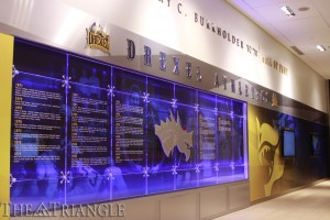 Drexel athletes through the ages are now being honored in a modern way thanks to the new Janet C. and Barry e. Burkholder Athletics Hall of Fame. The new display gives students and alumni alike the chance reminisce about their all-time favorite Drexel athletes.