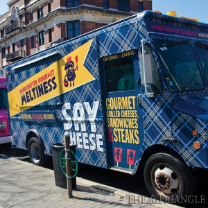Drexel students craving a grilled cheese sandwhich can pay a visit to Say Cheese, a food truck located on 33rd and Arch St. Customers can enjoy sandwiches such as The Franc, consisting of their custom cheese blend and pork.