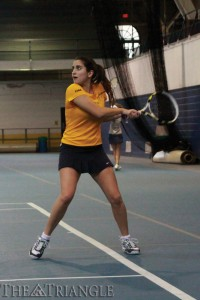 Junior Zeynep Mafa and the Drexel women's tennis team lost to the University of Delaware 4-0 in the CAA Championships.