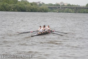 The Drexel men's crew team won the Bergen Cup title for the third consecutive year. The Dragons outlasted five other Philadelphia schools April 27 on the Schuylkill River.
