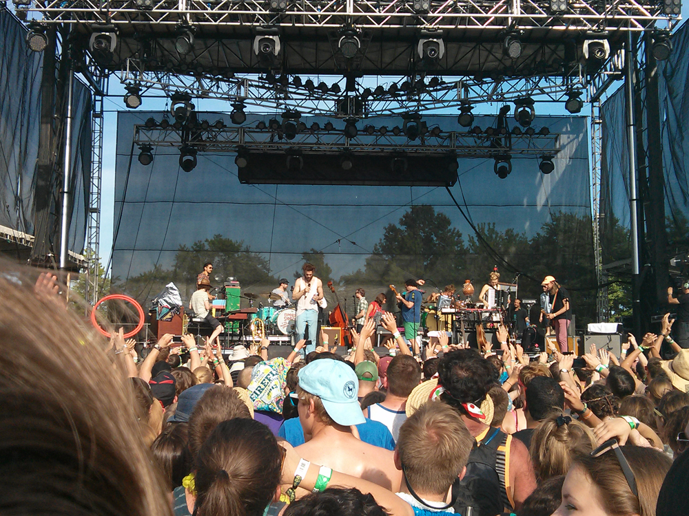 Edward Sharpe and the Magnetic Zeros was one of the many bands to perform at the second annual Firefly Music Festival in Delaware June 21 through June 24 at the Dover International Speedway. Other acts included Calvin Harris, The Red Hot Chili Peppers and Tom Petty. Photo courtesy of Dave Stephenson