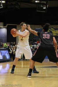 Senior forward Abby Redick recorded a triple-double in Drexel's 89-49 win over The College of William & Mary Jan. 16 in Williamsburg, Va.