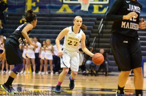 Point guard Meghan Creighton finished with 10 points, six rebounds and three assists in Drexel's 69-58 loss to James Madison University last season at the DAC. Creighton had 11 points in the team's Nov. 16 matchup against Cornell University. (Ken Chaney - The Triangle)