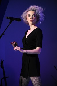 Annie Clark (pictured), otherwise known as St. Vincent, played at Union Transfer Feb. 26. Clark is touring behind the release of her self-titled fourth album. Photo courtesy of Vulture.