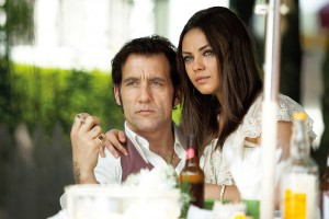 "Courtesy of The Triangle ""Blood Ties"" is an English remake of Jacques Maillot's 2008 film ""Les liens du sang."" The story centers around two brothers, one of whom is played by Clive Owen (left). Mila Kunis (right) also stars in the film."