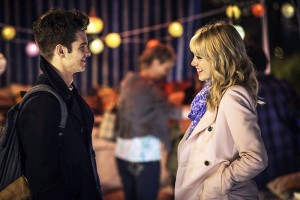 "James Garfield (left) and Emma Stone (right) star in ""The Amazing Spider-Man 2"" as Peter Parker and Gwen Stacy. Garfield and Stone are a couple in real life, and their chemistry translates well onto the silver screen."