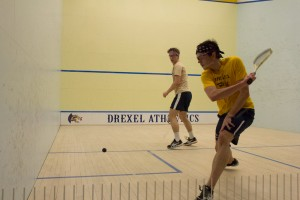 Men's squash takes on West Point, a matchup they won, 7-2. (Ajon Brodie - The Triangle)