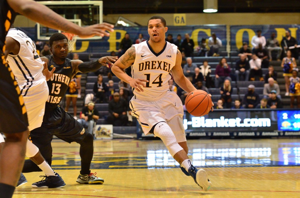 Damion Lee dribbles against Southern Mississippi Nov. 30. (Ken Chaney - The Triangle)