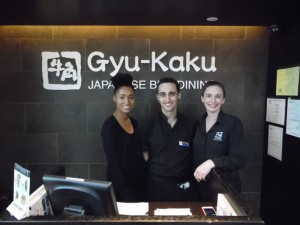 Karen Tancrede (right) with Gyu-Kaku's staff Bhavya Sharma - The Triangle