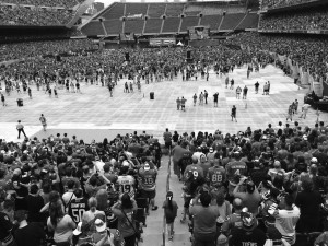 The scene at Soldier Field in Chicago as the Chicago Blackhawks celebrated their third Stanley Cup win in the past six years, all with the same nucleus of talent. (Carly Helfand - The Triangle)