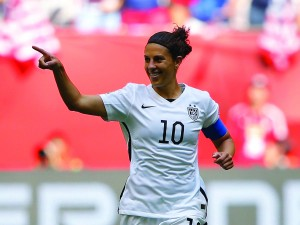 Delran, N.J., native Carli Lloyd was the USWNT's hero on July 5. (Getty Images)