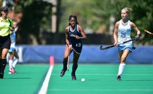 Photo Courtesy Drexeldragons.com Junior Idrienne Walker tracks down the ball earlier this season in a matchup against the University of North Carolina. Last weekend, the Dragons swept their competition, taking two straight wins over Northeastern University and RIder University.