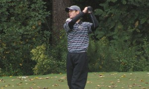 Photo Courtesy Drexeldragons.com Sophomore Adam Mistretta takes a shot during the North Carolina State Invitational at the Lonnie Poole Golf Club in Raleigh, North Carolina. The team finished twelfth overall in the tournament.
